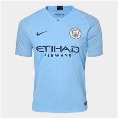 Camisa Manchester City Home 2018 s n° - Torcedor Nike Masculina - Azul Claro 779d0f434ee1d