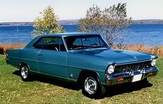 Chevy Nova History Introduction: The Chevrolet Nova SS represented Chevrolet's entry into the compact budget muscle car battle. Chevy Chevelle, Chevy Nova, Nova Car, Chevrolet Impala, Pontiac, Chevy Muscle Cars, Old School Cars, Sweet Cars, Drag Cars