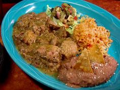Puerco Con Chile Verde from FoodNetwork.com  I add water and a knorr chicken bouillon cube. cube