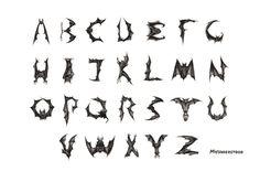 Spooky alphabet.