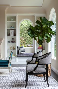 Built In Window Seat - Contemporary - living room - Grant K. Room Inspiration, Interior Inspiration, Interior Exterior, Interior Design, Ficus, Home Fashion, Decoration, Home And Living, Living Spaces