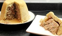 Norfolk Plough Pudding Recipe by TheFoodSnobUK on Fabulous Norfolk.  This Norfolk Plough Pudding Recipe features a suet pastry topped pudding filled with pork sausage meat, chopped bacon and onion with sage and sugar.  See more of this feature recipe here... http://www.fabulousnorfolk.co.uk/plough-pudding-recipe/