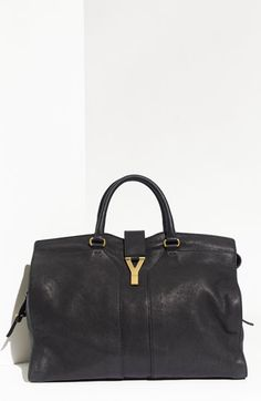 Yves Saint Laurent 'Cabas Chyc - Large' Leather Satchel available at #Nordstrom