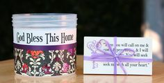 God Bless This Home Christian Scripture Jar by SweetHomeTreasures, $14.00