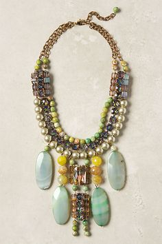 Icterina Bib Necklace #anthropologie