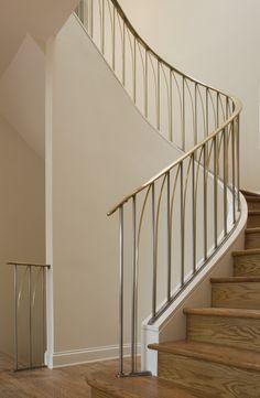 Metal railings, Staircase Design Chicago, Custom Stair Design, Custom Furniture - STAIRS & RAILINGS