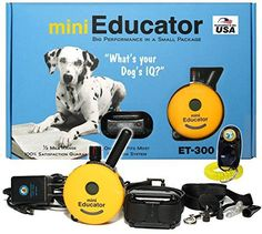 Bundle of 2 Items  ECollar  ET300  12 Mile Remote Waterproof Trainer Mini Educator  Static Vibration and Sound Stimulation Collar With PetsTEK Dog Training Clicker Training Kit * See this great product. (This is an affiliate link)