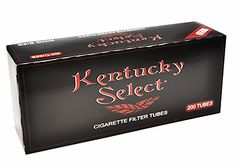 Kentucky Select Red (Full Flavor) King Size Cigarette Tubes - Lot Of 5 Boxes