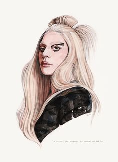 Gaga, Billboard Woman of the Year - Helen Green Illustration