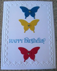 Handmade card using the Elegant Butterfly Punch by Stampin' Up!