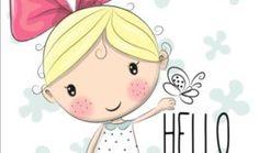 Cute cartoon girls design vector 01
