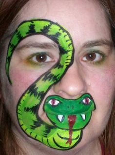 Free Face Painting Instructions | Face Painting Designs -- Snake Face Painting Design