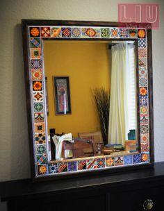 DIY Talavera mirror