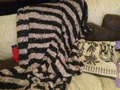 Neue Zebra-Decke für den Afrika-Stil