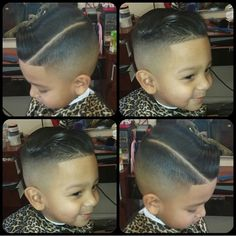 Boy hairstyle... haircut hard part fade for the kiddos