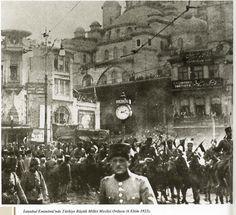 6 Ekim 1923  -- İstanbul, Eminönü.  Türkiye Büyük Millet Meclisi Ordusu