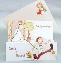 Maravillosas y originales invitaciones de boda Ve más fotos en IDEAS de EVENTOS