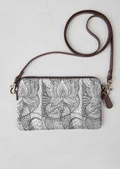 VIDA Leather Statement Clutch - Peace In Petals by VIDA xvC0b