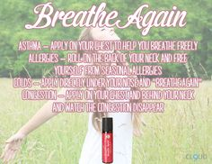 Breathe Again Essential Oil Roll-On works great in supporting respiratory health! #youngliving #essentialoils