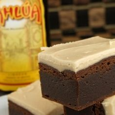 ... fun with these Kahlua Brownies with Browned Butter Kahlua Icing. Yum