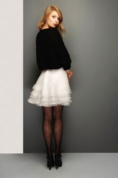 Silk Organza mini Skirt Unique Handmade Haute couture