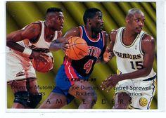 Sports Cards Basketball - 1995 Fleer (Team Leaders) Dikembe Mutombo / Joe Dumars / Latrell Sprewell # 3 of 9