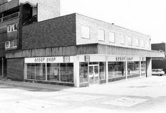Co-operative Society Scoop Shop , Hyson Green , Nottingham c1970/80s There were various -Scoop Shops' around the greater Nottingham area, usually occupying the sites of former co-op supermarkets. The chain was still part of the Co-operative Society and sold surplus catalogue clothes and item cheaply. Photo Credit : Ed Dexter