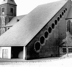 Gottfried Böhm, Extention of the Catholic Church , Püttlingen, Germany 1952-54