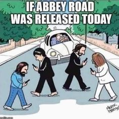 The Beatles - Abbey Road Funny Shit, The Funny, Funny Jokes, Hilarious, Funny Stuff, Dark Humor Jokes, Sarcastic Humor, Fb Memes, Memes Humor