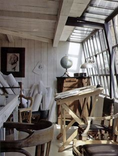 This would be a great art studio space Dream Studio, Home Studio, Studio Spaces, Studio Art, Studio Room, Studio Design, Design Art, Design Ideas, Art Atelier