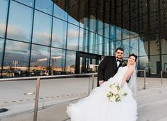 couple out on front steps of the convention center Front Steps, Convention Centre, Weddings, Couples, Wedding Dresses, Fashion, Bride Dresses, Moda, Bridal Wedding Dresses