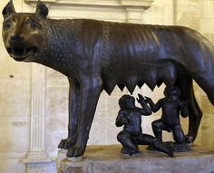 The icon of Rome (the she-wolf suckling Romulus and Remus) is 1700 years younger than its city, officials admit.