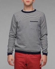 Oliver SPencer Micro Striped Crew