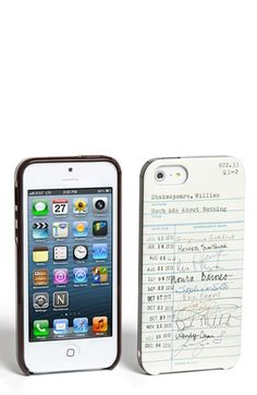library card iphone 5 case / kate spade