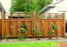 Lovely craftsman style fence.