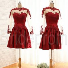 Formal Ball Gown Party Cocktail Evening Prom Sexy Lace Red Short Dress Custom Size on Luulla
