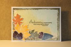 Card made with Clearly Besotted stamp and embossing power
