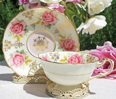 Paragon Tea Cup Pink Rose & Gilt