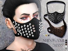Sims 4 CC's - The Best: Face mask by Pralinesims