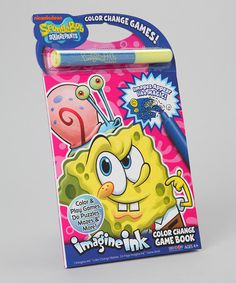 SpongeBob Imagine Ink Activity Book #zulily #zulilyfinds