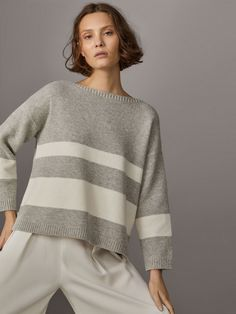 Fall Winter 2017 Women´s BOATNECK SWEATER at Massimo Dutti for 89.5. Effortless elegance!