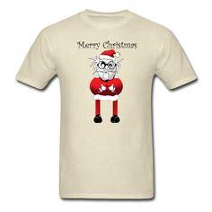 Funny Santa Claus - Men's T-Shirt Heather Black, Fruit Of The Loom, Cloth Bags, Apparel Design, Christmas Shirts, Fabric Weights, Kids Outfits, Shirt Designs, Santa