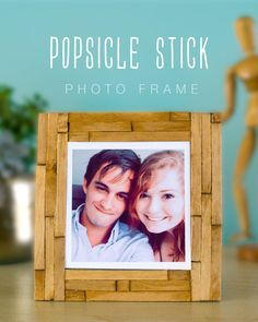 popsicle stick photo frame                                                                                                                                                      More