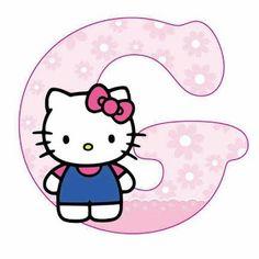Hello Kitty Face Paint, Hello Kitty Art, Hello Kitty Themes, Hello Kitty Birthday, Cat Birthday, Alphabet Letters Design, Alphabet Templates, Alphabet Images, Hello Kitty Pictures
