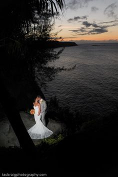 Very romantic. Maui Gardens for a destination wedding in Maui.  Photo by www.TadCraigPhotography.com