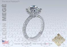 313™ Cushion Diamond Solitaire Engagement Ring by Leon Megé