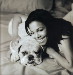 Janet and goofy dog.