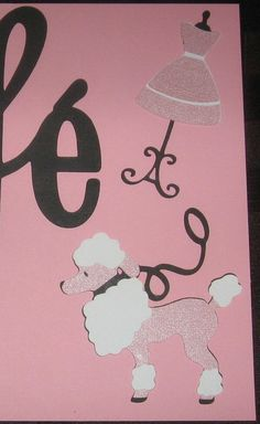 Poodle E via @Marlys Endo Endo Endo Rickel Graphic Design
