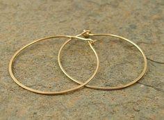 Small Gold Hoops 14k Filled 1 Hoop Earrings By Organikx Pinned Via Kelly Fischer Sesame Sparrow