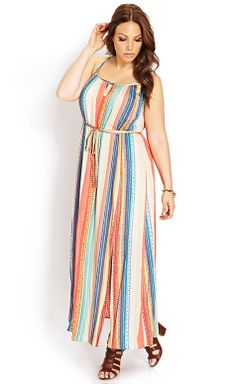 Electric M-Slit Maxi Dress #F21Plus #OOTD #MustHave  I Forever 21